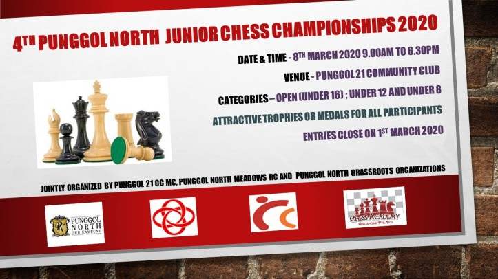 4th Punggol North junior chess championships 2020