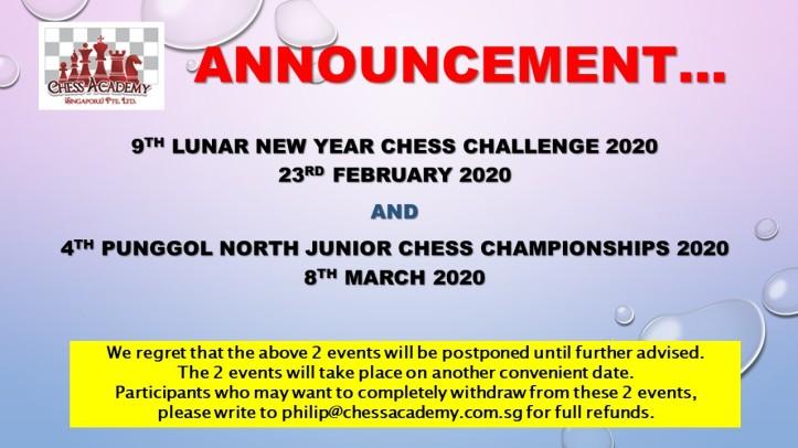 Announcemebt - Event Postponement